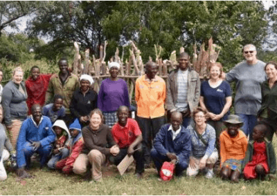 Goat gift project- building a kraal 5